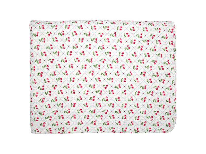 """GreenGate Quilt  """"Bed cover Cherie white"""" 100x140cm"""