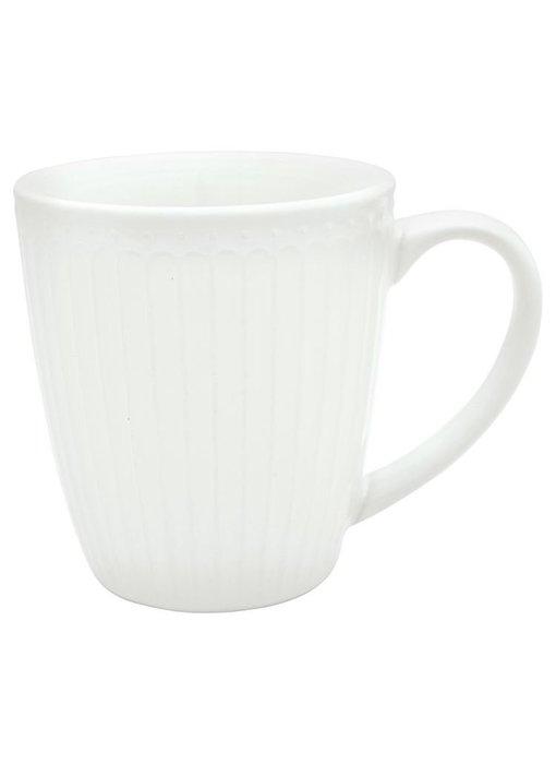 """GreenGate Henkelbecher Mug """"Alice"""" white"""