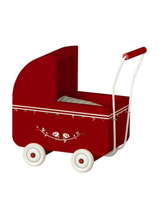 """Maileg Puppenwagen """"Pram Micro"""" rot"""