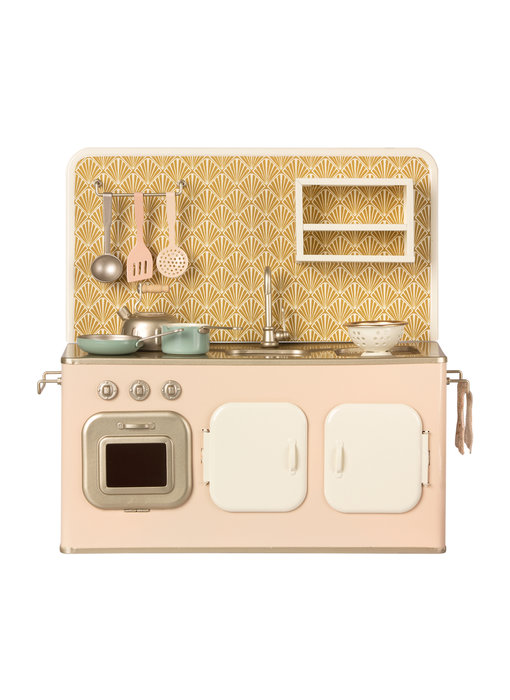"""Maileg Küche """"Metal Kitchen"""" mit Zubehör, rosa"""