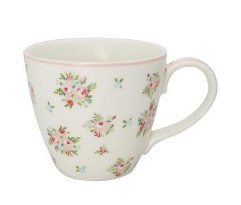 """GreenGate Henkelbecher """"Mug Abigail white"""""""