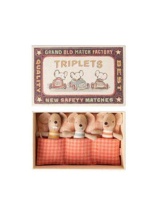 """Maileg Mäuse Drillinge """"Triplets in Box"""" mit Schachtel"""