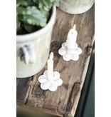 IB LAURSEN Kerzenhalter für Stabkerze Blume, weiß