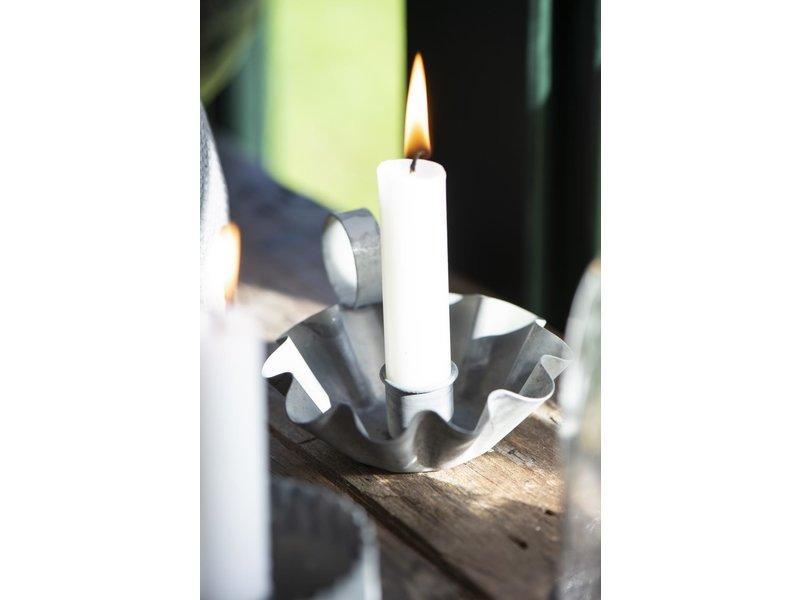 IB LAURSEN  Kerzenhalter für Stabkerze gewellte Kante