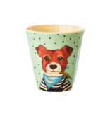 "rice dk Kinder Melamin Becher ""Cup Farm Animals"" Hund"