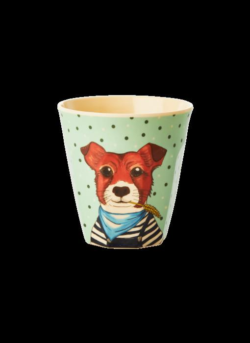 "rice dk Kinder Melamin Becher ""Cup Farm Animals"" Hund"