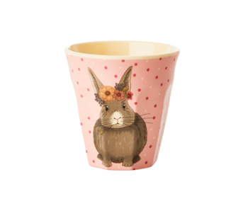 "rice dk Kinder Melamin Becher ""Cup Farm Animals"" Hase"