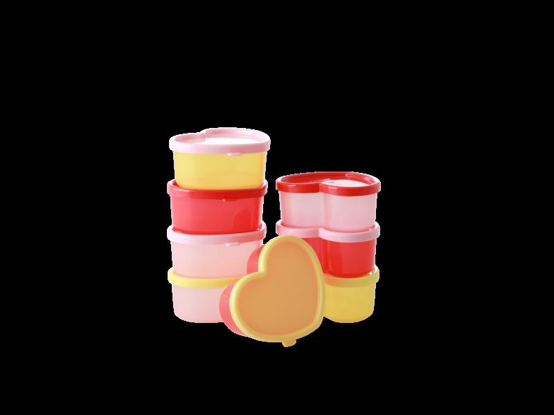 "rice dk Kleine Lebensmittelboxen ""Small Food Boxes"" Set 8 Stk. Herzen"