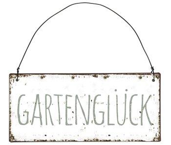 IB LAURSEN Metallschild Gartenglück