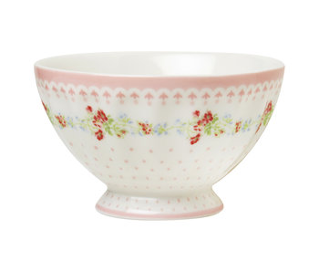 "GreenGate French Bowl ""Sinja white"" medium"