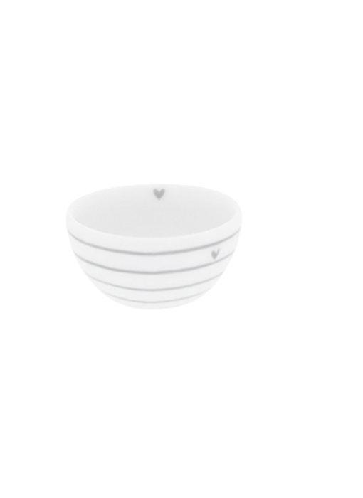"Bastion Collections Bowl small ""Streifen"" hell grau, 6x3cm"
