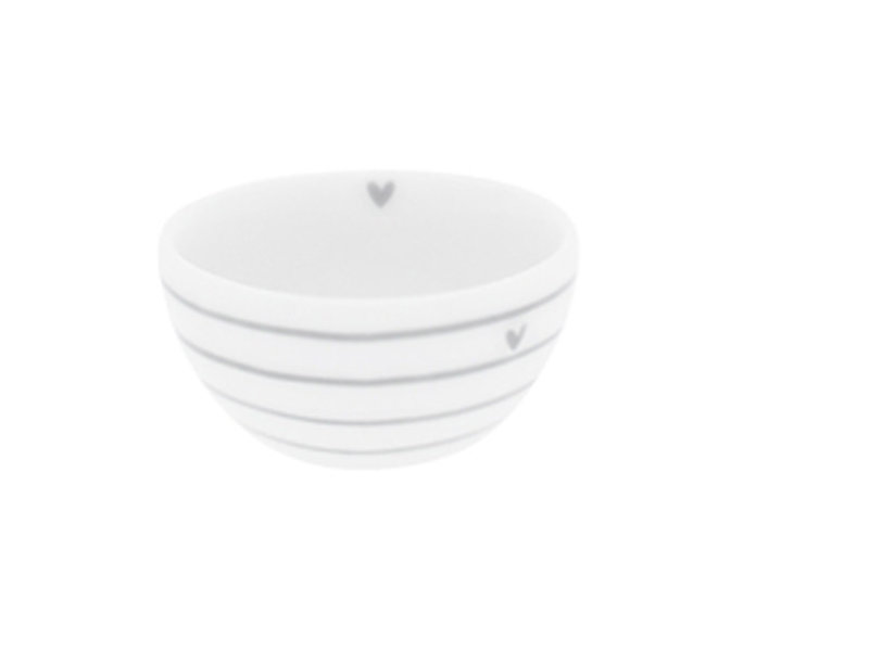 "Bastion Collections Bowl small ""Streifen"" hell grau, 6x3cm"