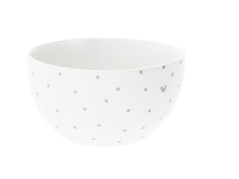 "Bastion Collections Bowl medium ""Punkte"" hell grau, 9,5x5cm"