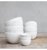 "Bastion Collections Bowl medium ""HAPPY ♥ FOOD"" hell grau, 9,5x5cm"