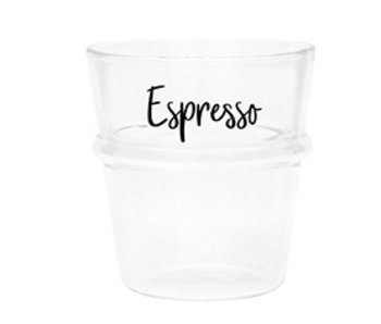 "Bastion Collections Espresso Glas ""Espresso"" schwarz"