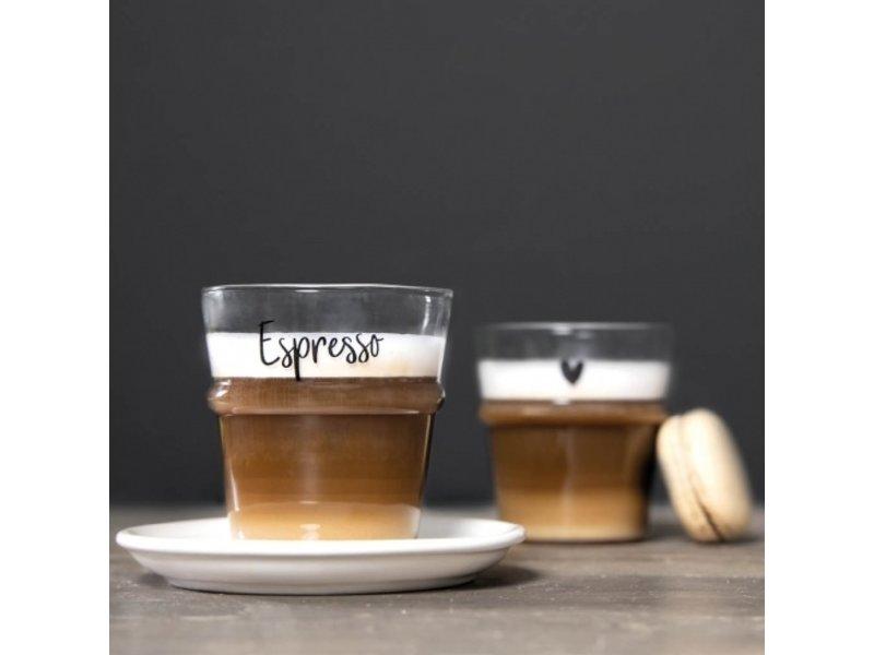 "Bastion Collections Espresso Glas ""Espresso"" schwarz"