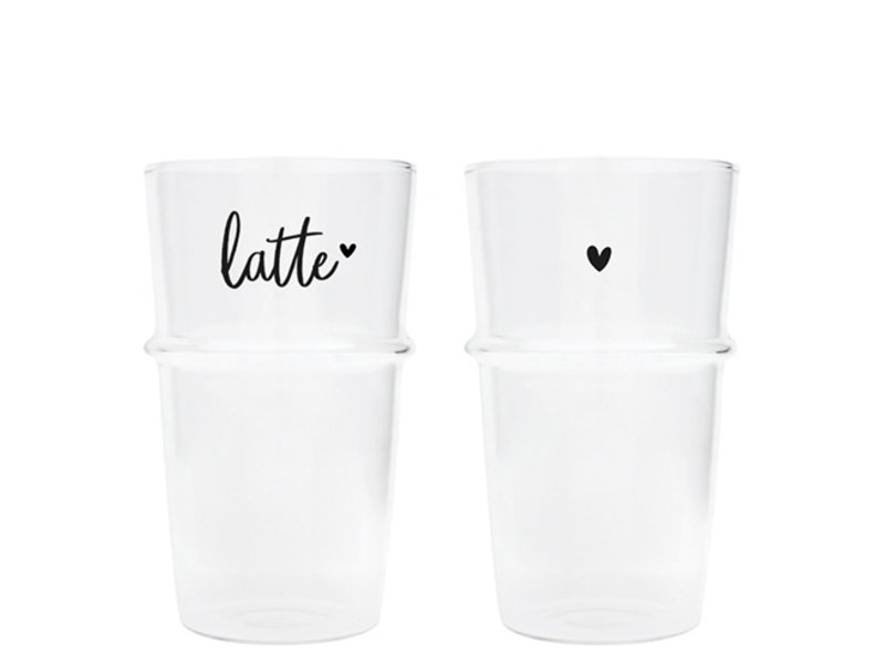 "Bastion Collections Latte Macchiato Glas "" Latte"" schwarz"