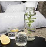 """Bastion Collections Wasserglas """"Herz"""" grau"""