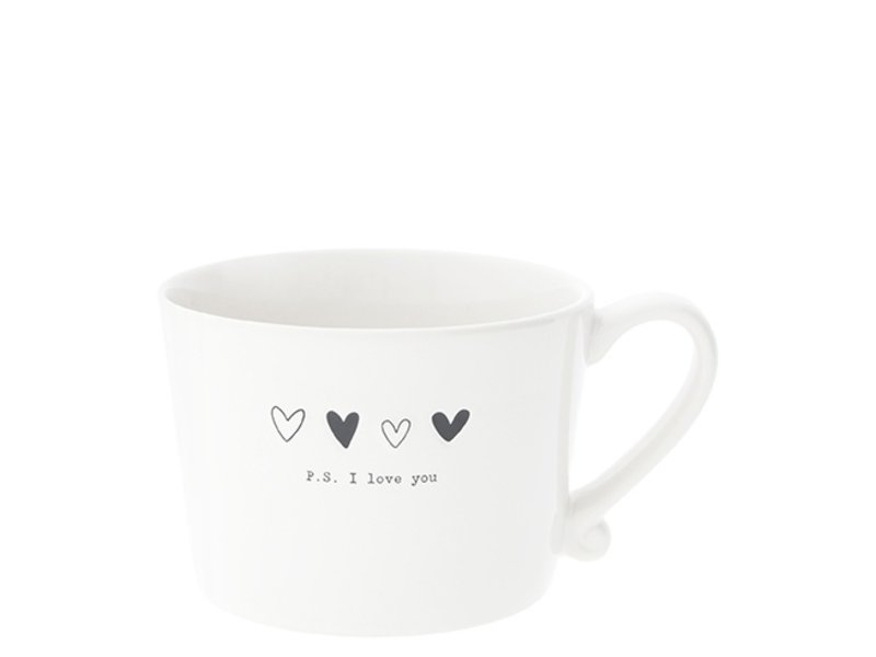"Bastion Collections Tasse ""PS. I love you"" schwarz"