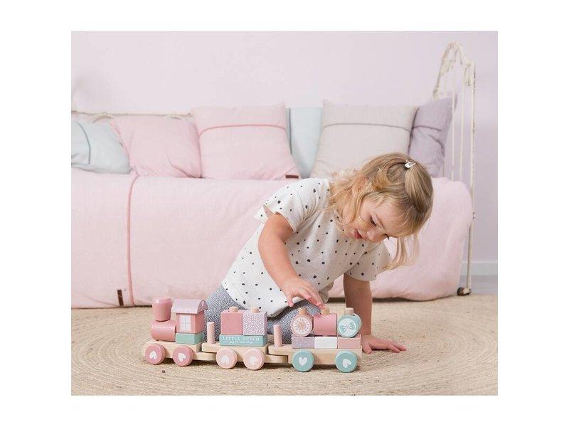 Little Dutch Holz-Eisenbahn mit Formen, Adventure pink