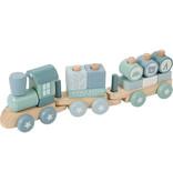 Little Dutch Holz-Eisenbahn mit Formen, Adventure blue