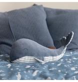 Little Dutch Kuschel Wal Groß - Ocean Blue