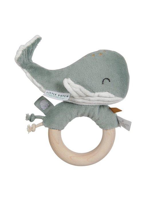Little Dutch Ringrassel Wal - Ocean Mint