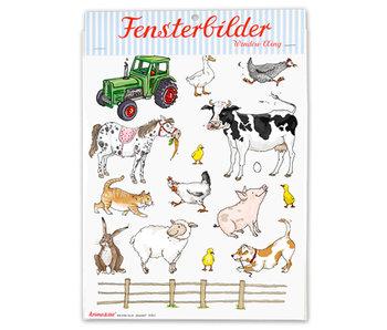 krima & isa Fensterbilder Bauernhof