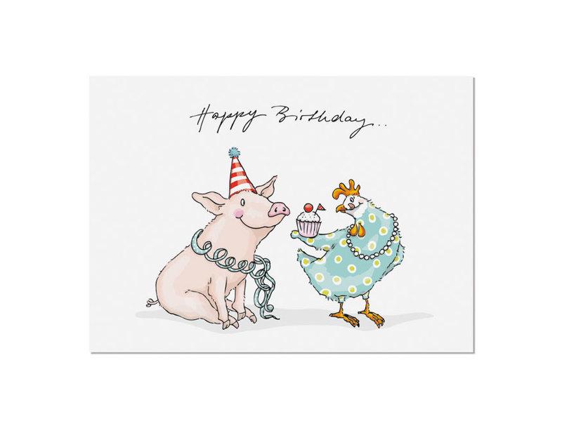 krima & isa Postkarte Cupcake Birthday
