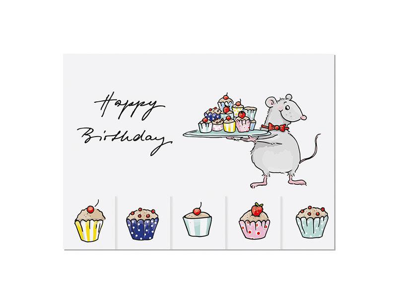 krima & isa Postkarte Birthday zum Mitnehmen