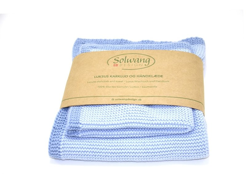 "Solwang ""Wischtuch & Handtuch"" Staubig Blaue Tönen"