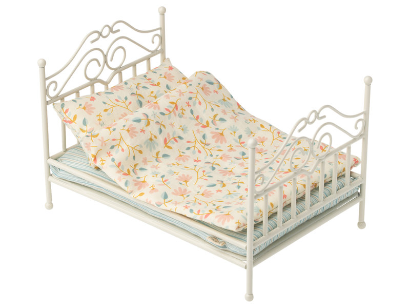 "Maileg Hasen ""Vintage Bett"" Soft sand, Micro"