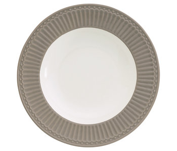"GreenGate Tieferteller ""Deep plate Alice"" warm grey"