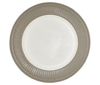 "GreenGate Essteller ""Dinner plate Alice"" warm grey"