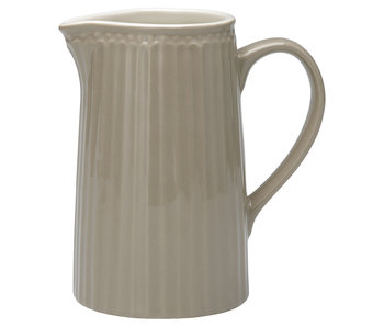 "GreenGate Krug ""Jug Alice"" warm grey 1L"
