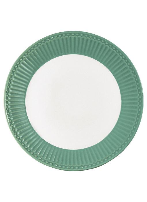 "GreenGate Frühstücksteller ""Plate Alice"" dusty green"