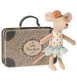 """Maileg Maus kleine Schwester """"Little Miss Mouse"""" mit Koffer"""