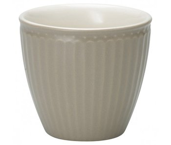 "GreenGate Becher ""Latte cup Alice"" warm grey"