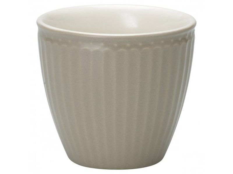 "GreenGate Becher ""Latte cup Alice"" warm grey"