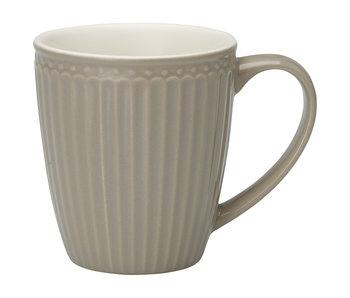 "GreenGate Henkelbecher Mug ""Alice"" warm grey"