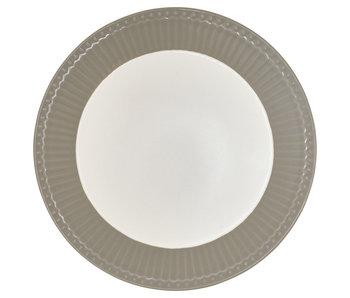 "GreenGate Frühstücksteller ""Plate Alice"" warm grey"