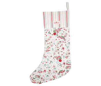 "GreenGate Nikolausstrumpf ""Stocking Carol white"""