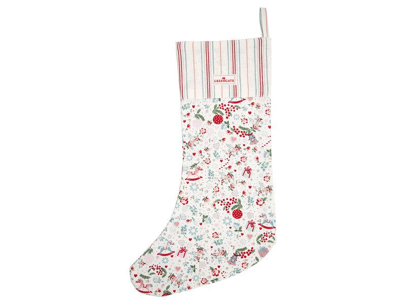"GreenGate Nikolausstrumpf ""Stocking Carol white"""
