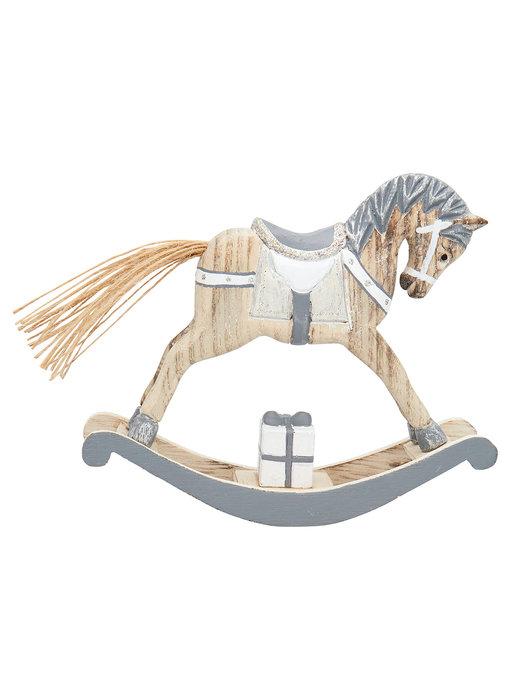 GreenGate Decoration rocking horse grey medium