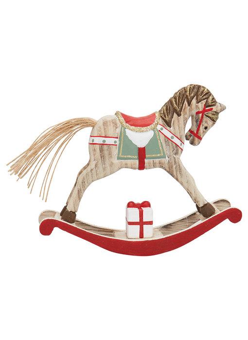 GreenGate Decoration rocking horse red medium