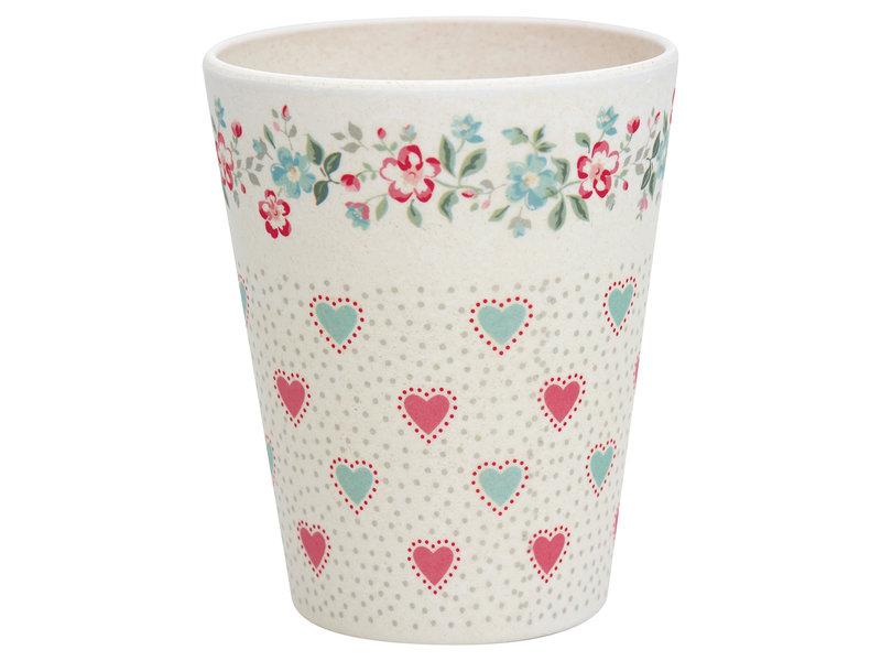 "GreenGate Bambus Becher ""Cup Sonia white"""