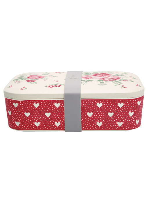"""GreenGate Lunch box """"Elouise white"""""""