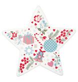 """GreenGate Untersetzerbrett Stern """"star Sandie white"""" Keramik"""