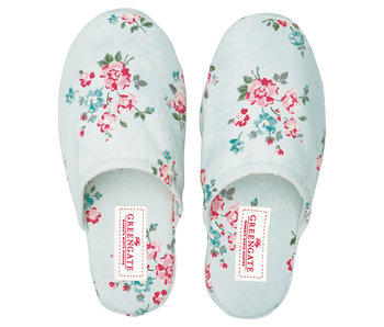GreenGate Slippers Sonia pale blue small/medium