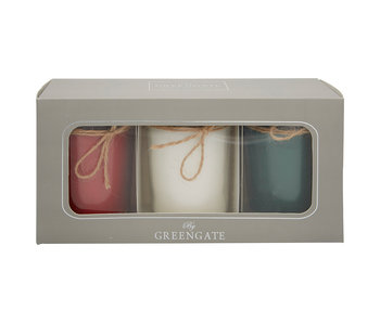 "GreenGate Duftkerze Set ""Winter mix"" 3 Stk."